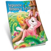 Iepurele si Broasca testoasa. Carte de colorat A5 ilustrata