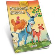 Muzicantii din Bremen. Carte de colorat A4 cu ilustratii