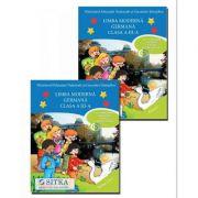 Manual pentru Limba moderna Germana, clasa a III-a, partea I si partea a II-a - M. G. Bertarini (Contine DVD )