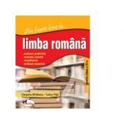 Stiu foarte bine la... limba romana, clasa a IV-a - Tudora Pitila, Cleopatra Mihailescu