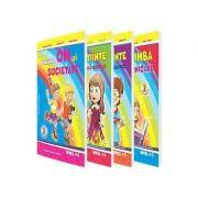 Set de 4 caiete pentru gradinita, nivel 4-5 ani. Domeniul, Limba si comunicare, Om si societate, Stiinte