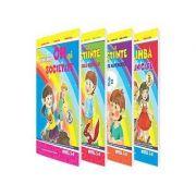 Set de 4 caiete pentru gradinita, nivel 5-6 ani. Domeniul, limba si comunicare, om si societate, stiinte