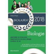 Bacalaureat 2018. Anatomie si fiziologie, genetica si ecologie umana. Clasele XI-XII. 45 de teste dupa modelul M. E. N. cu bareme de evaluare si notare