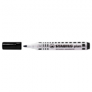 Marker pentru tabla Stabilo Plan 64, varf rotund, 2. 5-3. 5mm, negru ( SW6411 )