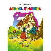 Hansel si Gretel. Poveste de colorat - Fratii Grimm