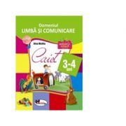 Limba si comunicare - Caiet 3-4 ani (Alice Nichita)