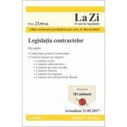 Legislatia contractelor. Cod 648. Editie actualizata (21. 09. 2017) coordonata si prefatata de Razvan Dinca