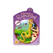 Coloreaza cu Rapunzel. Carte cu autocolante