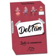 DelFan-Limba si comunicare. Joc cu 64 de cartonase ce contine 4 arii super distractive: Cultura generala, mima, descriere verbala si desen