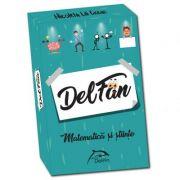 DelFan-Matematica. Joc cu 64 de cartonase ce contine 4 arii super distractive: Cultura generala, mima, descriere verbala si desen