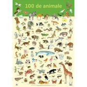 Plansa. 100 de animale - Nelson Verlag