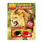 3D Animale salbatice. Cu ochelari 3D