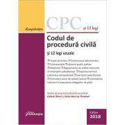 Codul de procedura civila si 12 legi uzuale. Actualizat 5 octombrie 2018