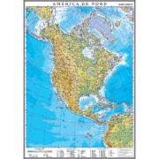 America de Nord. Harta fizica 1000x1400 mm