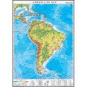 America de Sud. Harta fizica 1000x1400 mm
