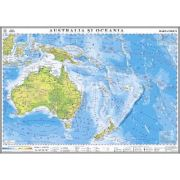 Australia si Oceania. Hartafizica 1400x1000 mm