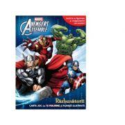 Avengers Assemble. Razbunatorii. Carte joc cu 12 figurine si plansa ilustrata - Marvel