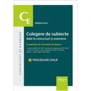 Culegere de subiecte date la concursuri si examene. 2 Procedura civila - Madalina Dinu
