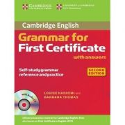 Cambridge Grammar for First Certificate with Answers - contine CD audio - Louise Hashemi, Barbara Thomas