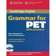 Cambridge Grammar for PET Book with Answers: Self-Study Grammar Reference and Practice - contine CD audio