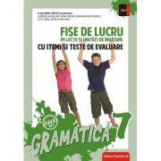 Gramatica clasa a VII-a. Fise de lucru si unitati de invatare cu itemi si teste de evaluare