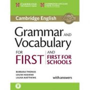 Grammar and Vocabulary for First and First for Schools Book with Answers and Audio - Louise Hashemi