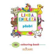 Limba engleza: Pasari (Colouring Book)