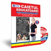 Caietul educatoarei 2018 + CD cu resurse digitale - Evidenta activitatii si a prezentei la grupa