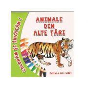 Coloram si invatam! Animale din alte tari - Adina Grigore