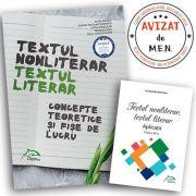 Textul nonliterar, Textul literar - Concepte teoretice si fișe de lucru, clasele IX-XII
