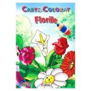 Flori. Carte de colorat