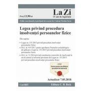 Legea privind procedura insolventei persoanelor fizice Act. 7. 05. 2018