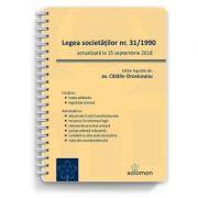 Legea societăților nr. 31-1990, actualizată la 15 septembrie 2018