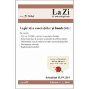 Legislatia asociatiilor si fundatiilor Act. 10. 09. 2018