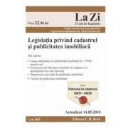 Legislatia privind cadastrul si publicitatea imobiliara Act. 14. 05. 2018