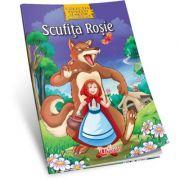 Scufita Rosie - Carte de colorat si poveste