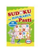 Sudoku cu iepurasul de Pasti. 89 de autocolante (de la 4 ani)