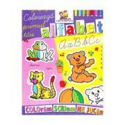 Coloreaza primul tau alfabet - Colectia: coloram, scriem, ne jucam