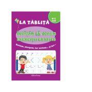 La tablita - Invatam sa scriem exercitii grafice (5-7 ani)