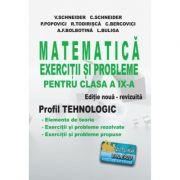 Matematica - Exercitii si probleme pentru clasa a IX-a. Profil Tehnologic - Editie noua - revizuita