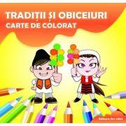 Traditii si obiceiuri - Carte de colorat