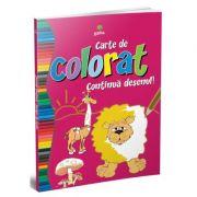 Carte de colorat - continua desenul