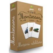 Carti de joc Montessori. Vocabular. Masini utilitare