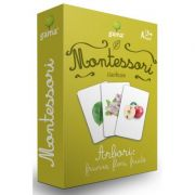 Carti de joc Montessori. Arbori: frunze, flori, fructe