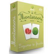 Carti de joc Montessori. Asocieri. Legume si fructe