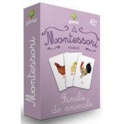 Carti de joc Montessori. Vocabular. Familii de animale
