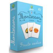 Carti de joc Montessori. Vocabular. Fructe exotice