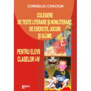 Culegere de texte literare si nonliterare, de exercitii, jocuri si glume - Corneliu Craciun