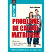 Probleme de calcul matriceal. Olimpiade. Concursuri scolare. Bacalaureat - Florin Stanescu - Ed. Cartea Romaneasca
