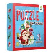 Puzzle de Craciun - contine trei puzzle-uri cu piese mari